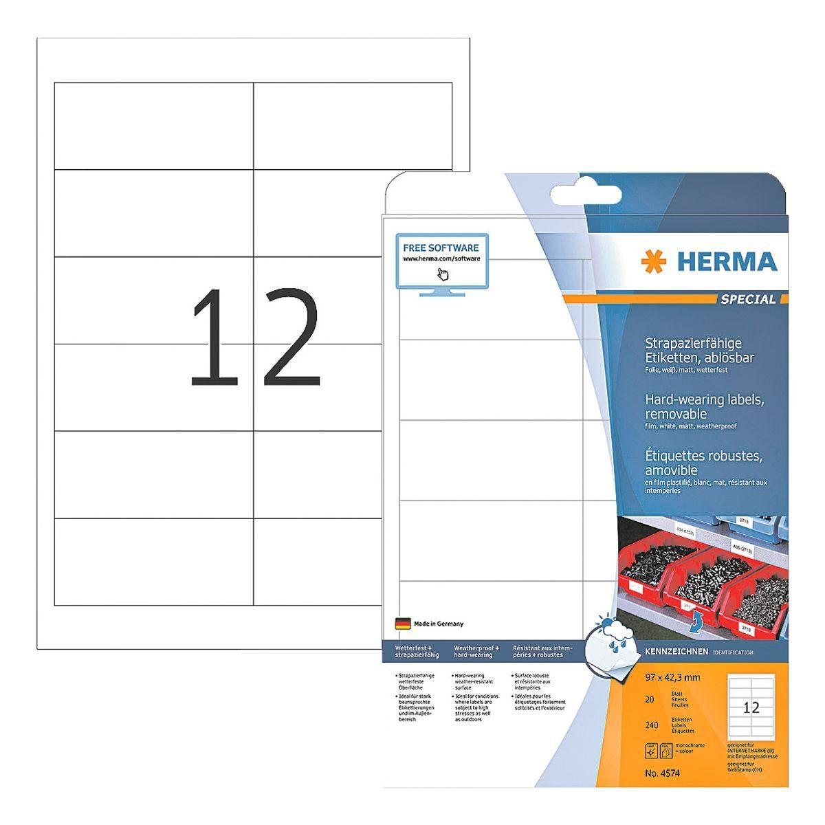 HERMA Outdoor Folien-Etiketten 240 Stück »Special«