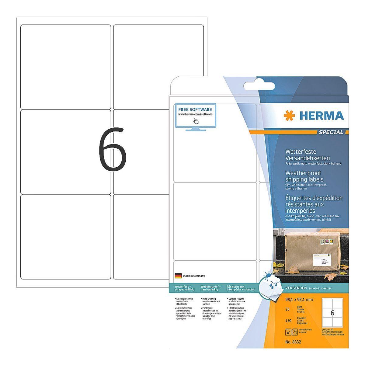 HERMA Versand Folien-Etiketten 150 Stück »Special«