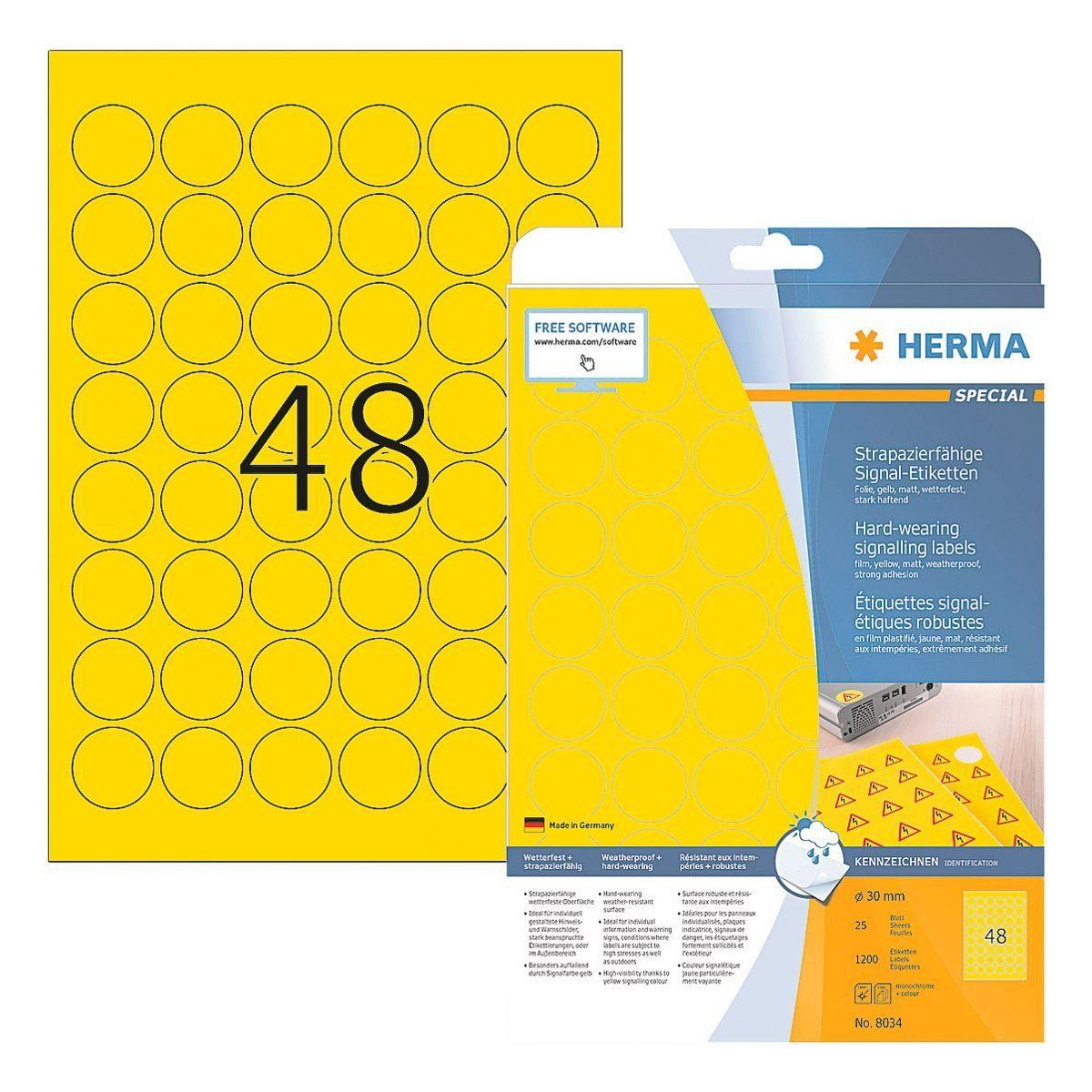 HERMA Outdoor Folien-Etiketten 1200 Stück »Special«