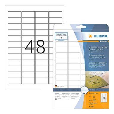 HERMA Transparente Folien-Etiketten 1200 Stück »Special«