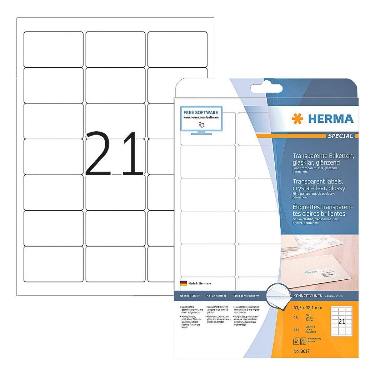 HERMA Transparente Folien-Etiketten 525 Stück »Special«