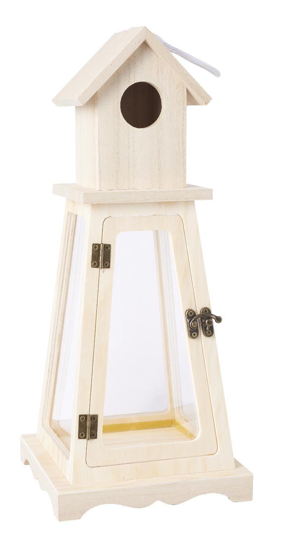 """VBS Holz-Leuchtturm """"Stormlight"""" 36 cm hoch"""