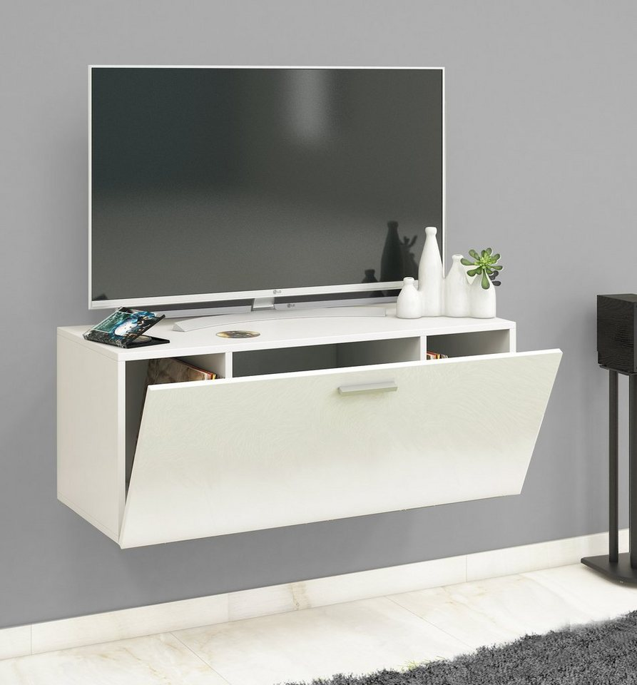vcm tv wandboard fernso fachboden aus esg sicherheitsglas online kaufen otto. Black Bedroom Furniture Sets. Home Design Ideas