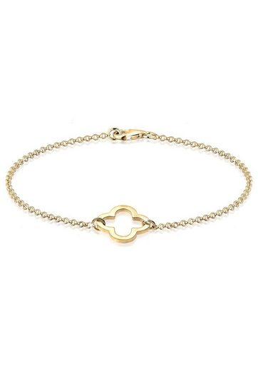 Elli Armband »Kleeblatt Glücksbringer 925 Silber«