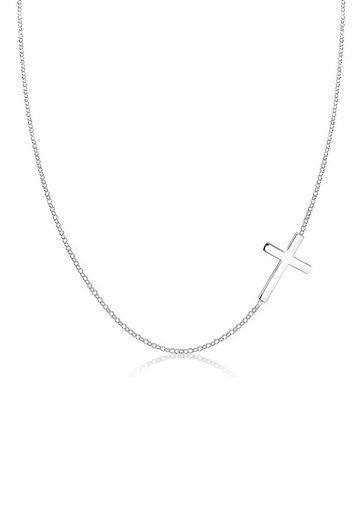 Elli Collierkettchen »mit Kreuz Schlicht 925 Sterling Silber«