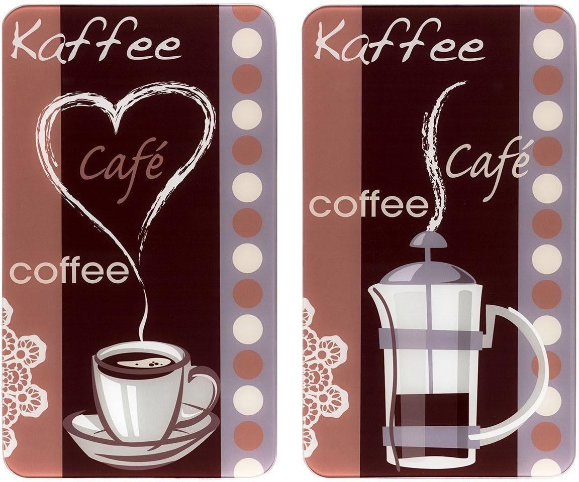 Wenko Herd-Abdeckplatte, 2er Set, »Kaffeeduft«