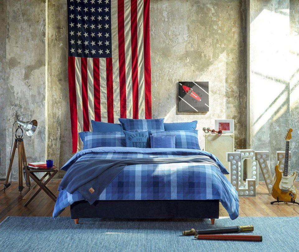 bettw sche denim spirit kariert tommy hilfiger in verschiedenen blaut nen online kaufen otto. Black Bedroom Furniture Sets. Home Design Ideas