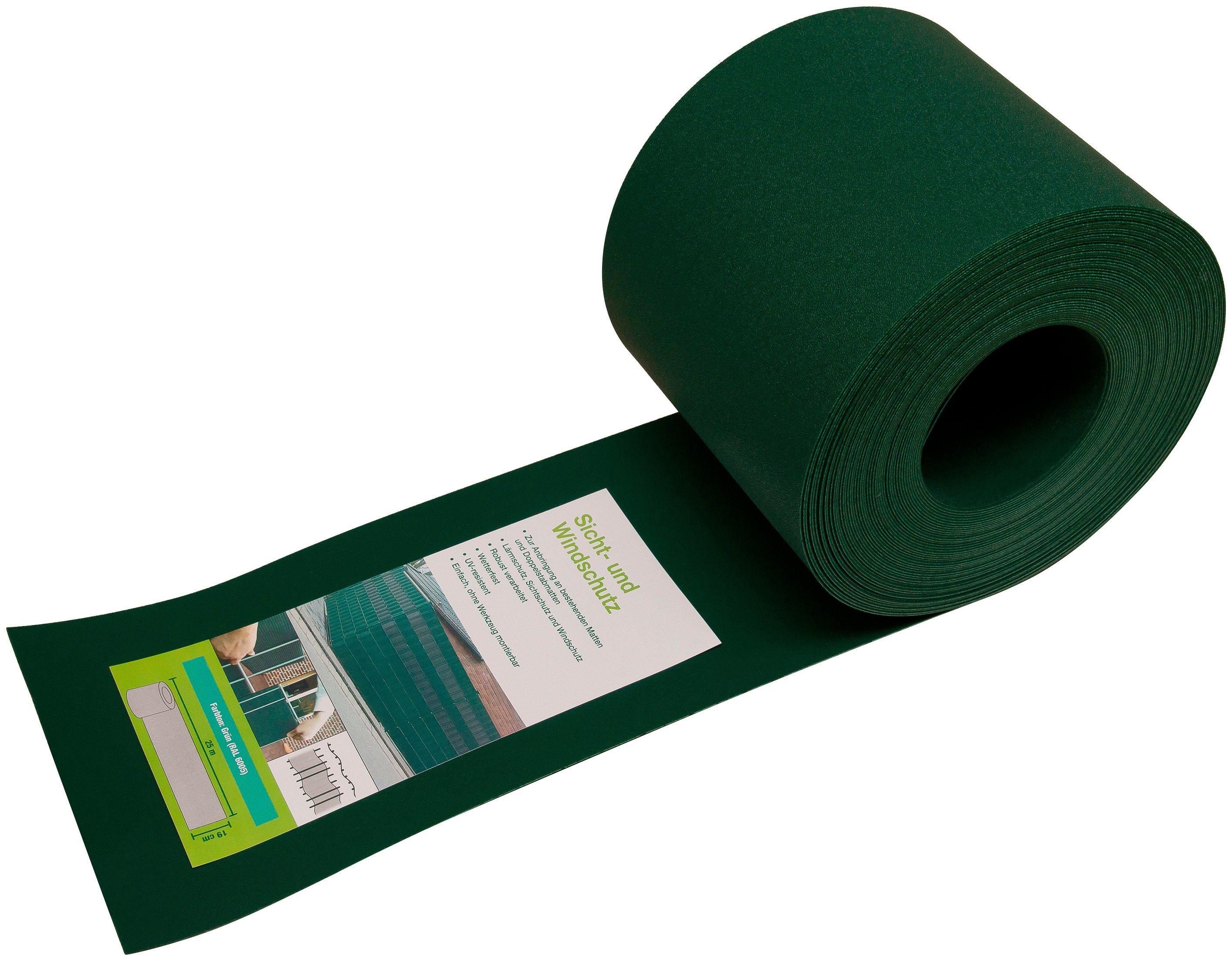 Sichtschutzelement , grün, BxL: 19 cm x 25,5 m | Garten > Zäune und Sichtschutz | Arvotec