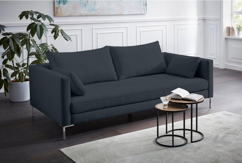 Alte Gerberei 3 Sitzer Sofa »Marinus« Mit Schmalen Lehnen, Inklusive  Rückenkissen U0026