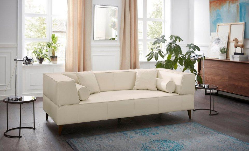 Alte Gerberei 3-Sitzer Sofa »Marten« mit breiten Lehnen, inklusive ...