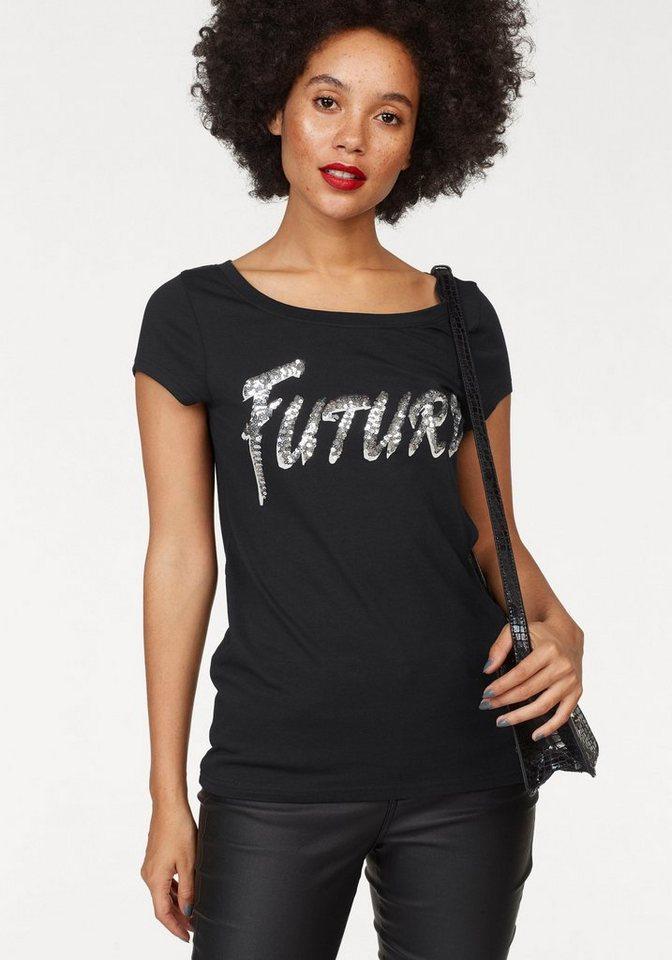 ajc t shirt mit pailletten schriftzug kaufen otto. Black Bedroom Furniture Sets. Home Design Ideas