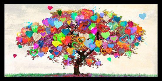 my home Bild »MALIA RODRIGUES - Tree of Love«, mit Rahmen