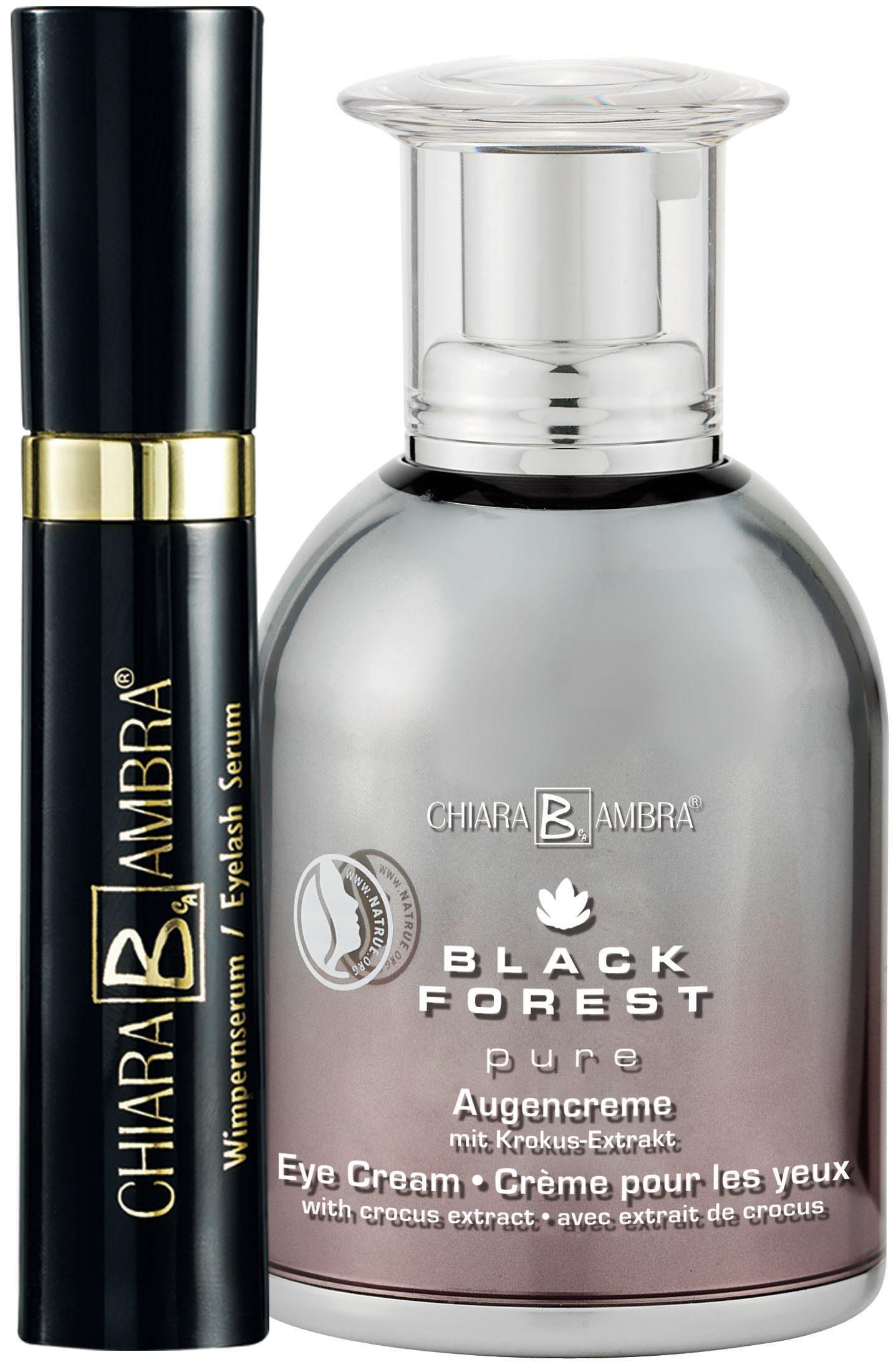 Chiara Ambra, »Black Forest Augen Set« «, Wimpernserum (6 ml) & Black Forest Augencreme (30 ml)
