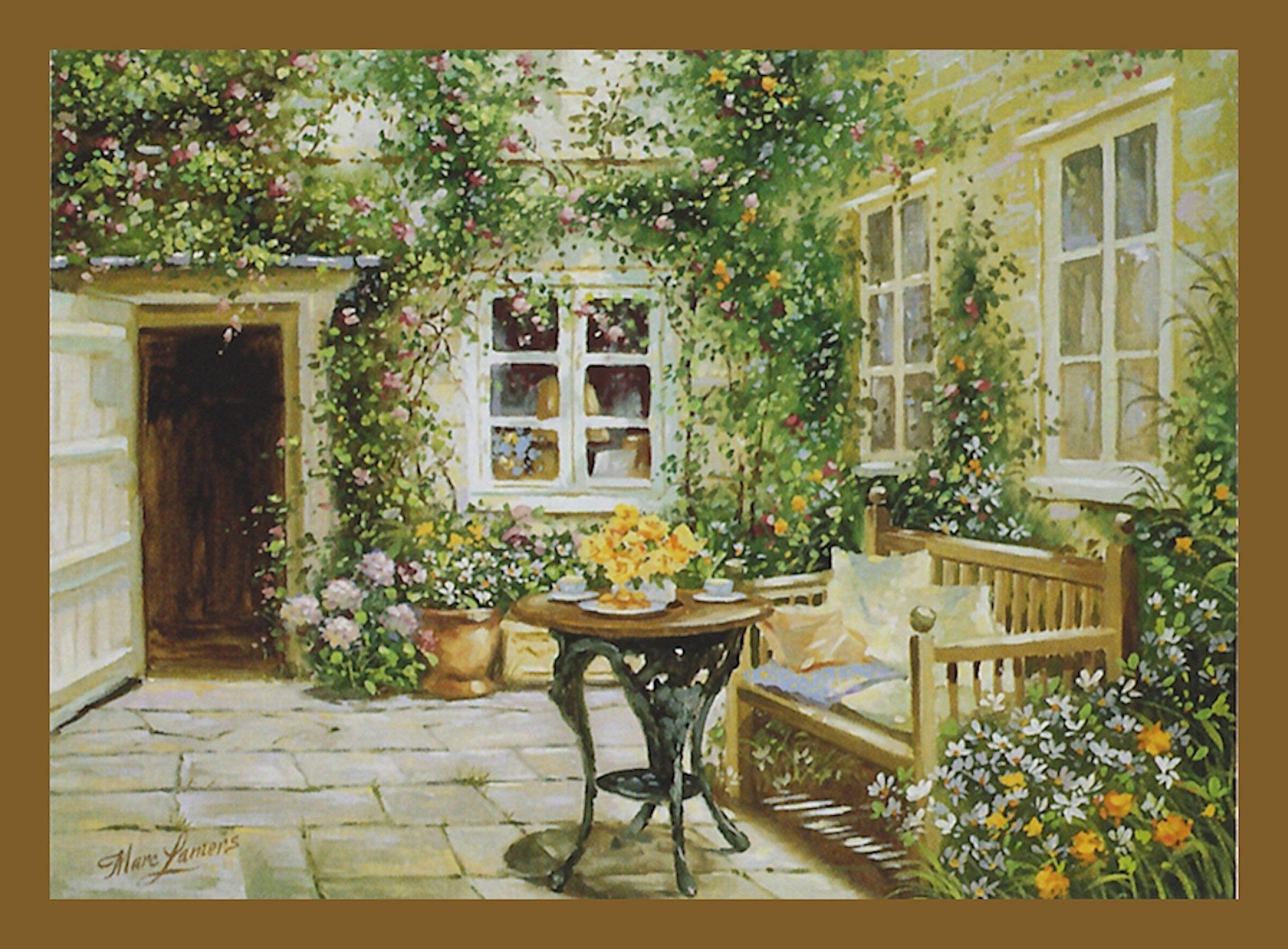 Home affaire Wandbild »Courtyard tranquility«, mit Rahmen