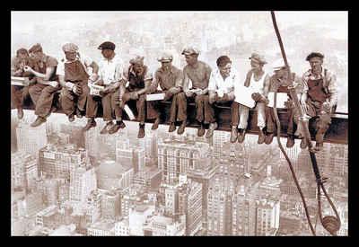 Home affaire Wandbild »Eating above Manhattan«, mit Rahmen