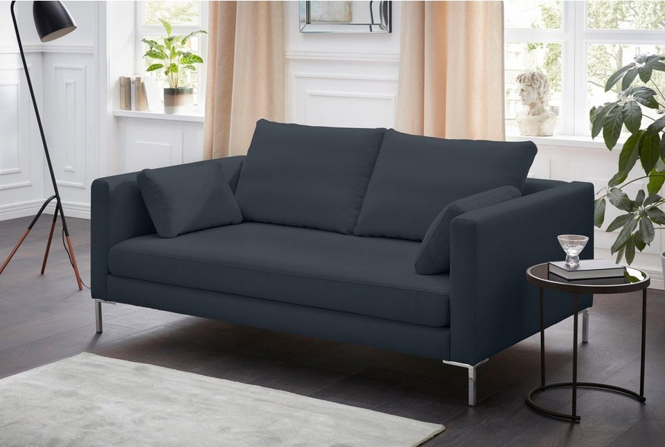 alte gerberei 2 sitzer sofa marinus mit schmalen lehnen inklusive r ckenkissen. Black Bedroom Furniture Sets. Home Design Ideas