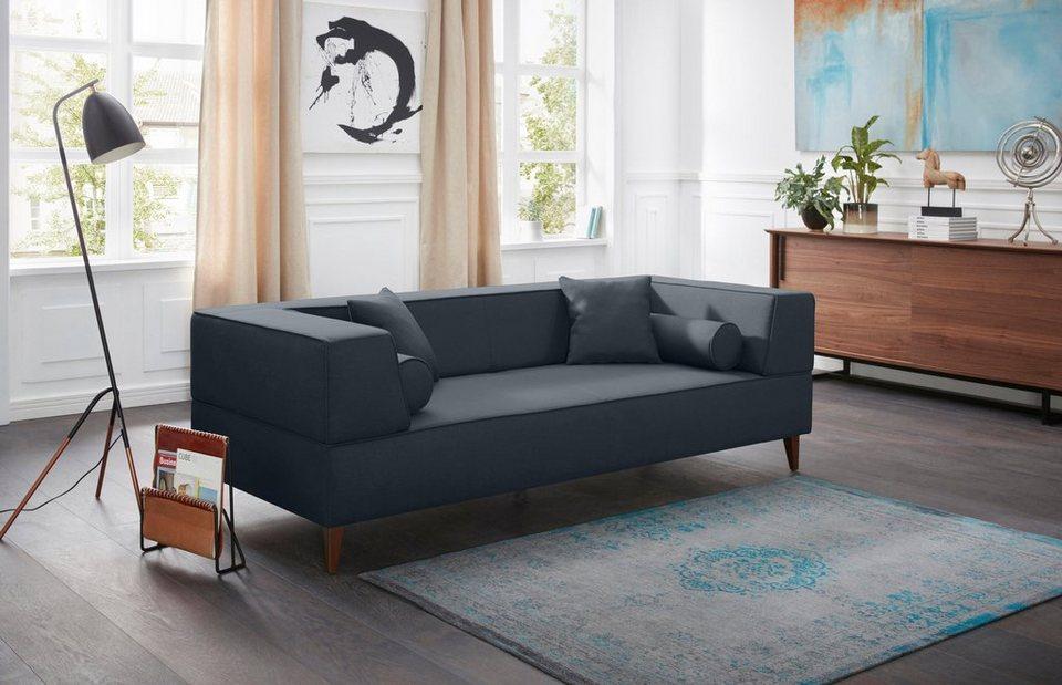 Alte Gerberei 3 Sitzer Sofa »Marten« Mit Breiten Lehnen, Inklusive  Zierkissen U0026