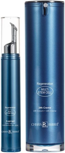 CHIARA AMBRA Pflege-Set »Multi Stem Cell«, 2-tlg., 24h Creme plus Augengel gratis