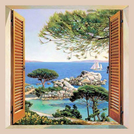 Home affaire Bild »A. D. Missier - Finestra sul Mediterraneo«, mit Rahmen
