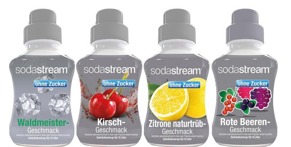 sodastream getr nke sirup fruchtschorle ohne zucker 4 x. Black Bedroom Furniture Sets. Home Design Ideas