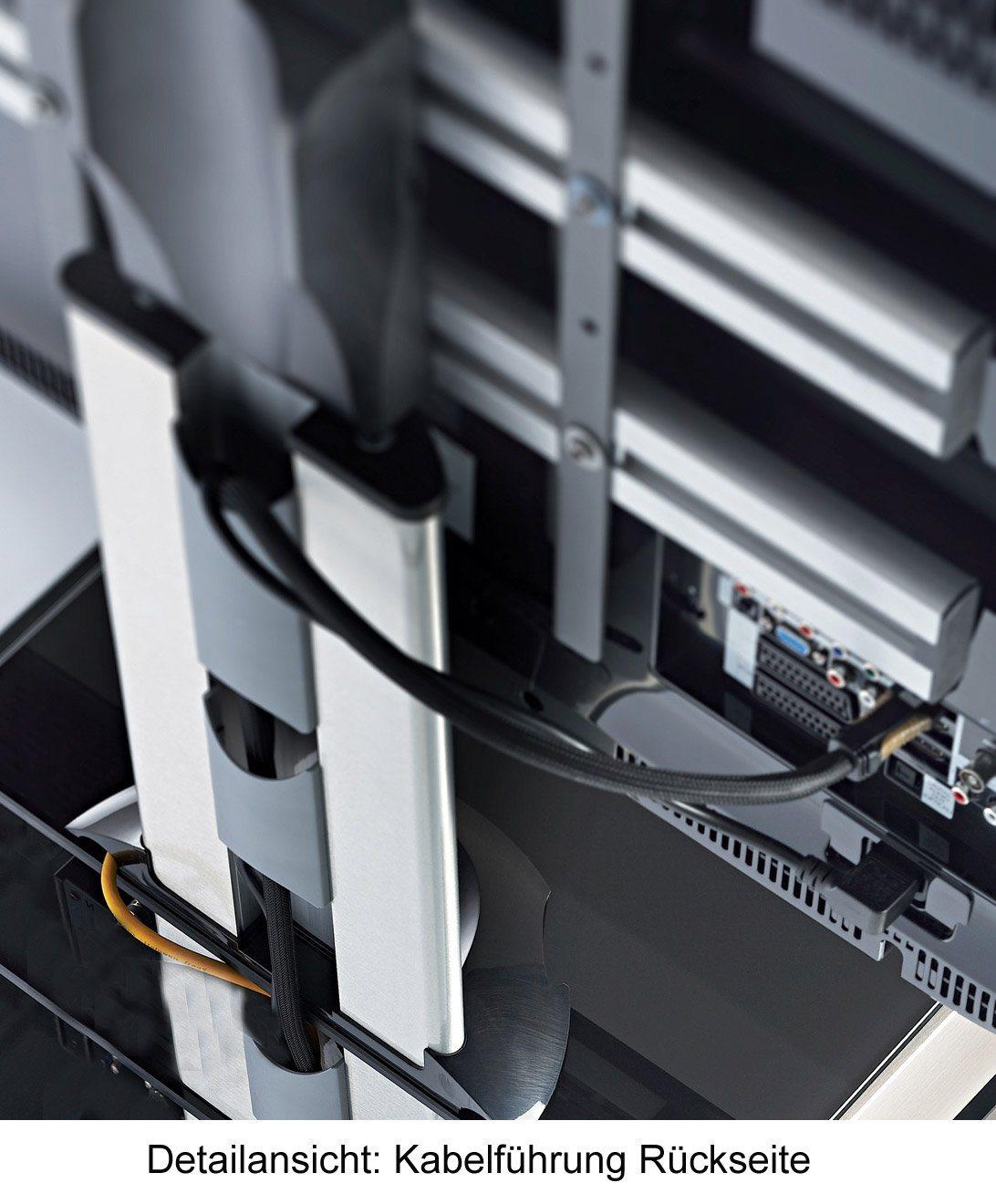 VCM TV-Standfuß ´´Bilano Zwischenboden Silber´´ | Wohnzimmer > TV-HiFi-Möbel > Ständer & Standfüße | Aluminium - Schwarzglas - Sicherheitsglas | VCM