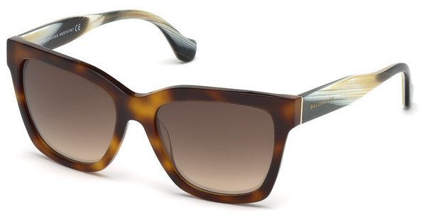 Balenciaga Damen Sonnenbrille » BA0098«, braun, 48G - braun/braun