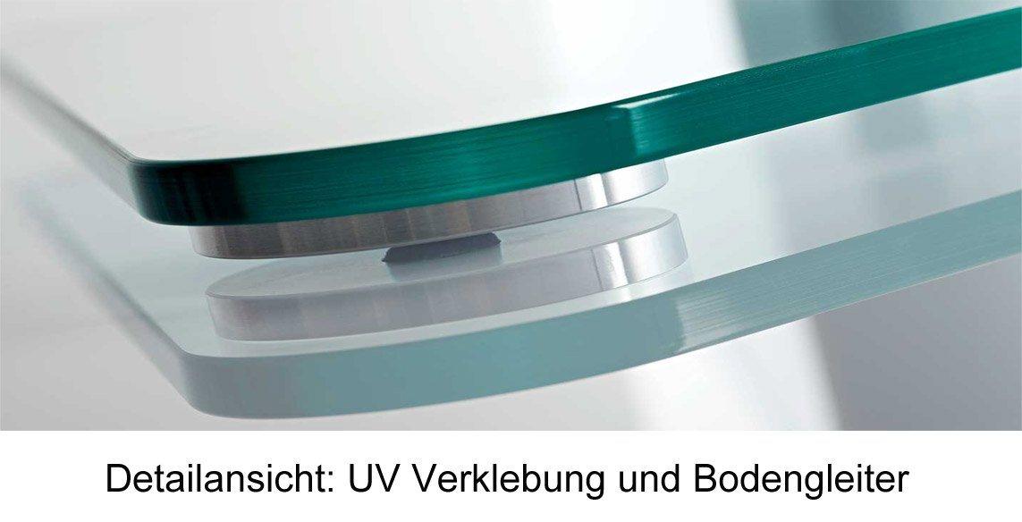 VCM TV-Standfuß ´´Zental´´ | Wohnzimmer > TV-HiFi-Möbel > Ständer & Standfüße | Aluminium - Sicherheitsglas - Schwarzglas | VCM