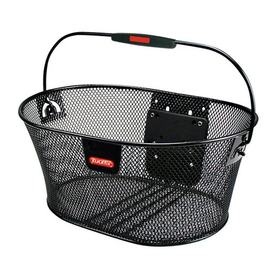 KlickFix Fahrradkorb »Oval Korb feinmaschig«