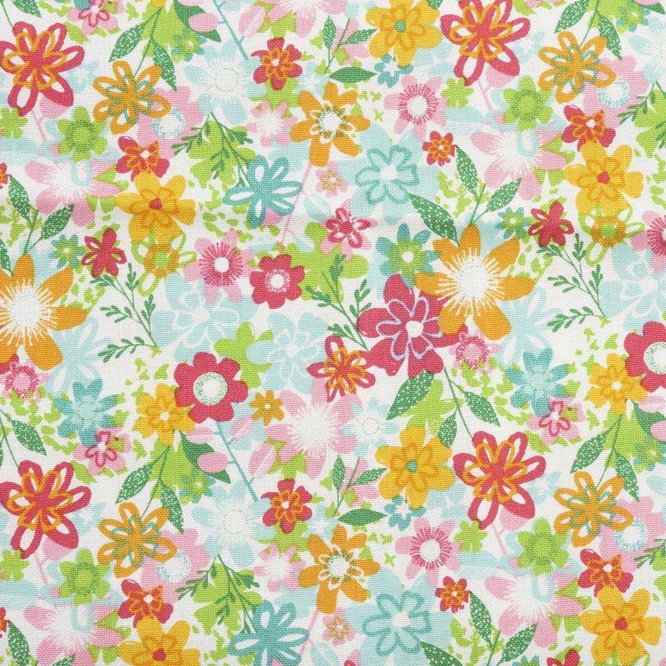 """Zweigart Baumwoll-Stoff """"Fruity Flowers"""" 115 cm breit (Meterware) online kaufen"""