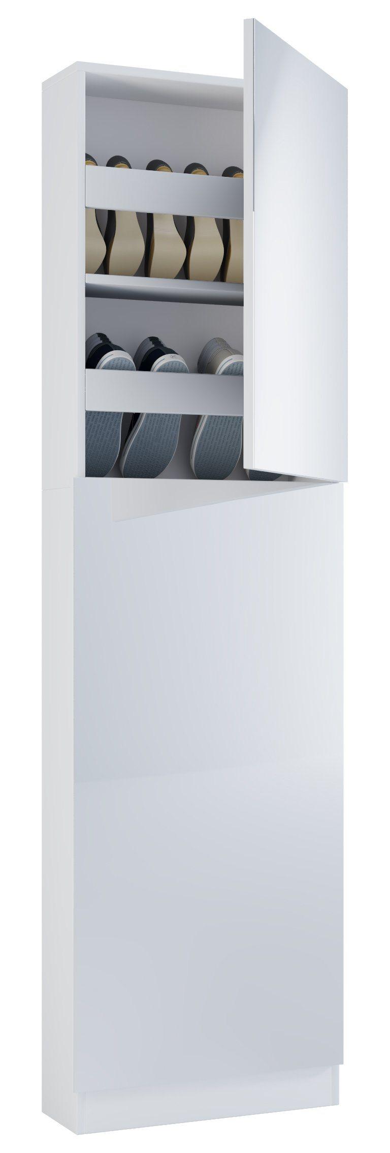 VCM Schuhschrank mit Spiegel ´´Fulas´´ | Flur & Diele > Schuhschränke und Kommoden > Schuhschränke | Sicherheitsglas - Metall - Nachbildung | VCM