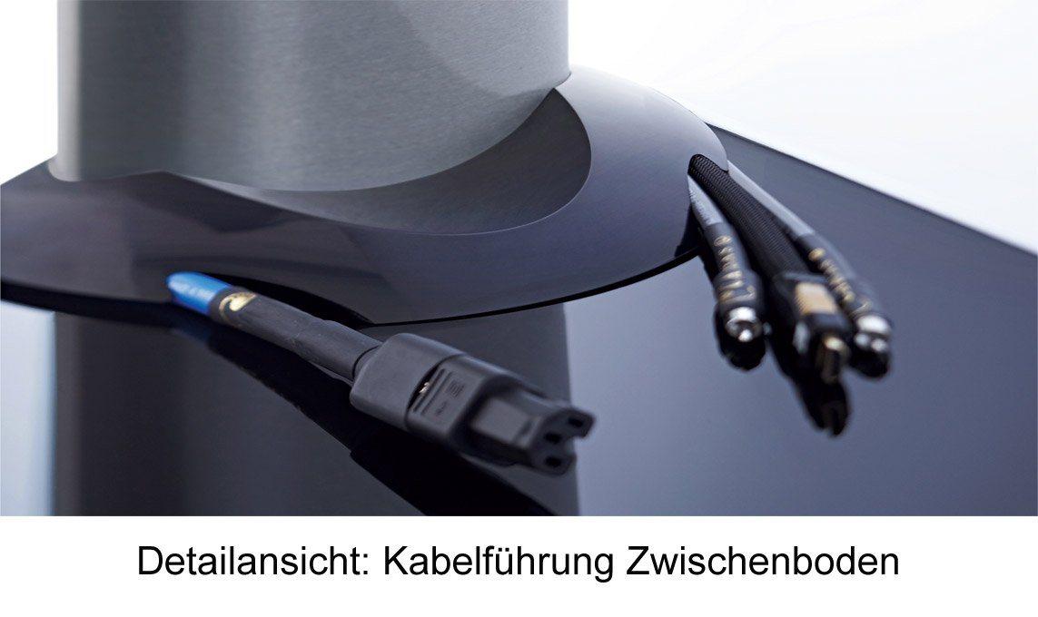 VCM TV-Standfuß ´´´Zental Zwischenboden´´ | Wohnzimmer > TV-HiFi-Möbel > Ständer & Standfüße | Schwarz | VCM