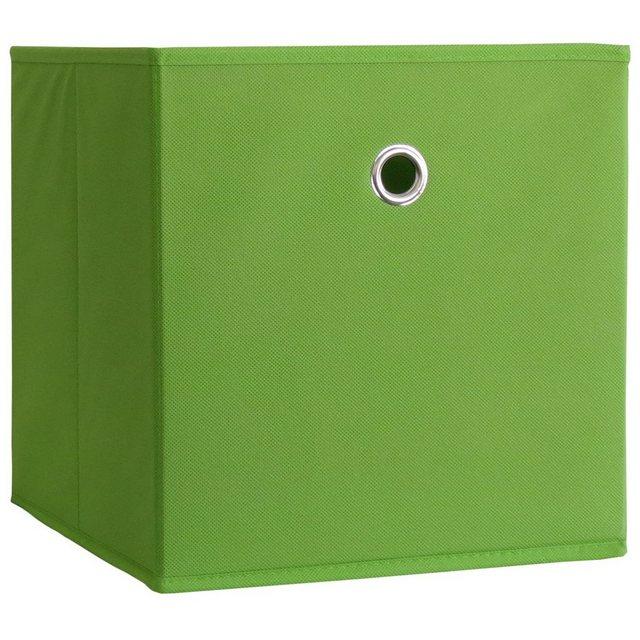 VCM Stoffbox Boxas Grün ohne Deckel 2 Stück