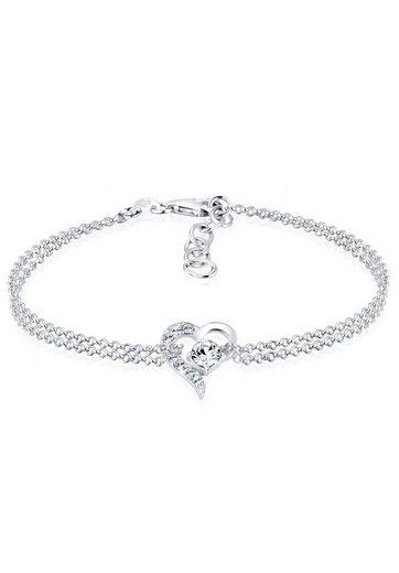 Elli Armband »Herz Liebe Swarovski® Kristalle 925 Silber«