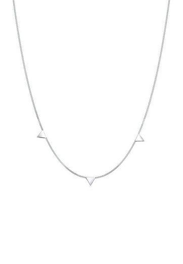 Elli Collierkettchen »Dreieck Geo Trend Minimal 925 Sterling Silber«