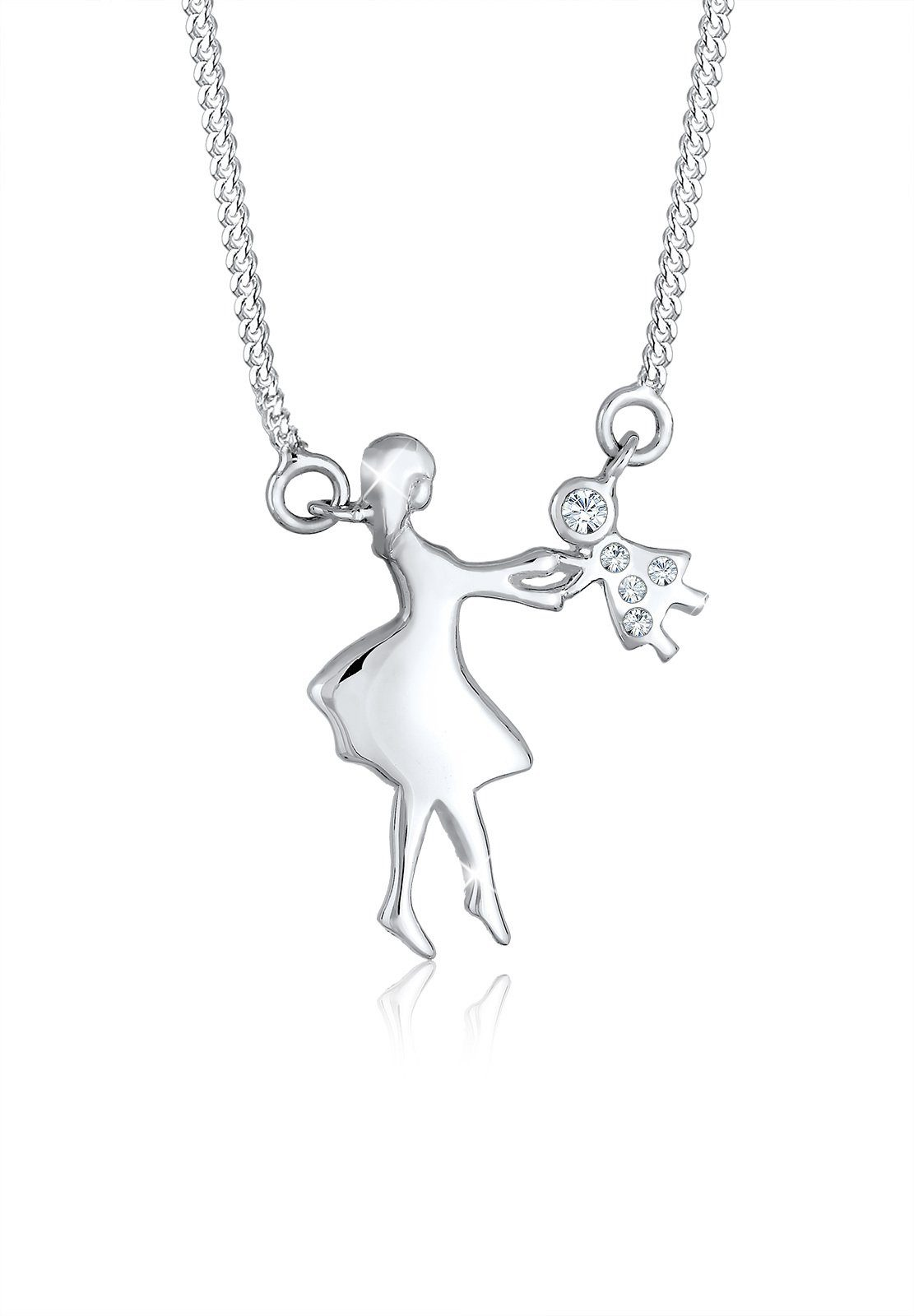 Elli Collierkettchen »Mutter Kind Liebe Swarovski® Kristalle 925 Silber«