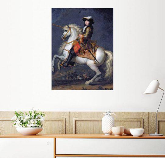 Posterlounge Wandbild - Rene Antoine Houasse »Reiterporträt von Ludwig XIV.«
