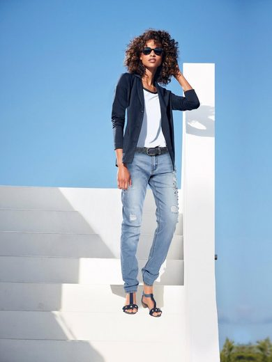 heine CASUAL Boyfriend-Jeans mit Schmuckbesatz