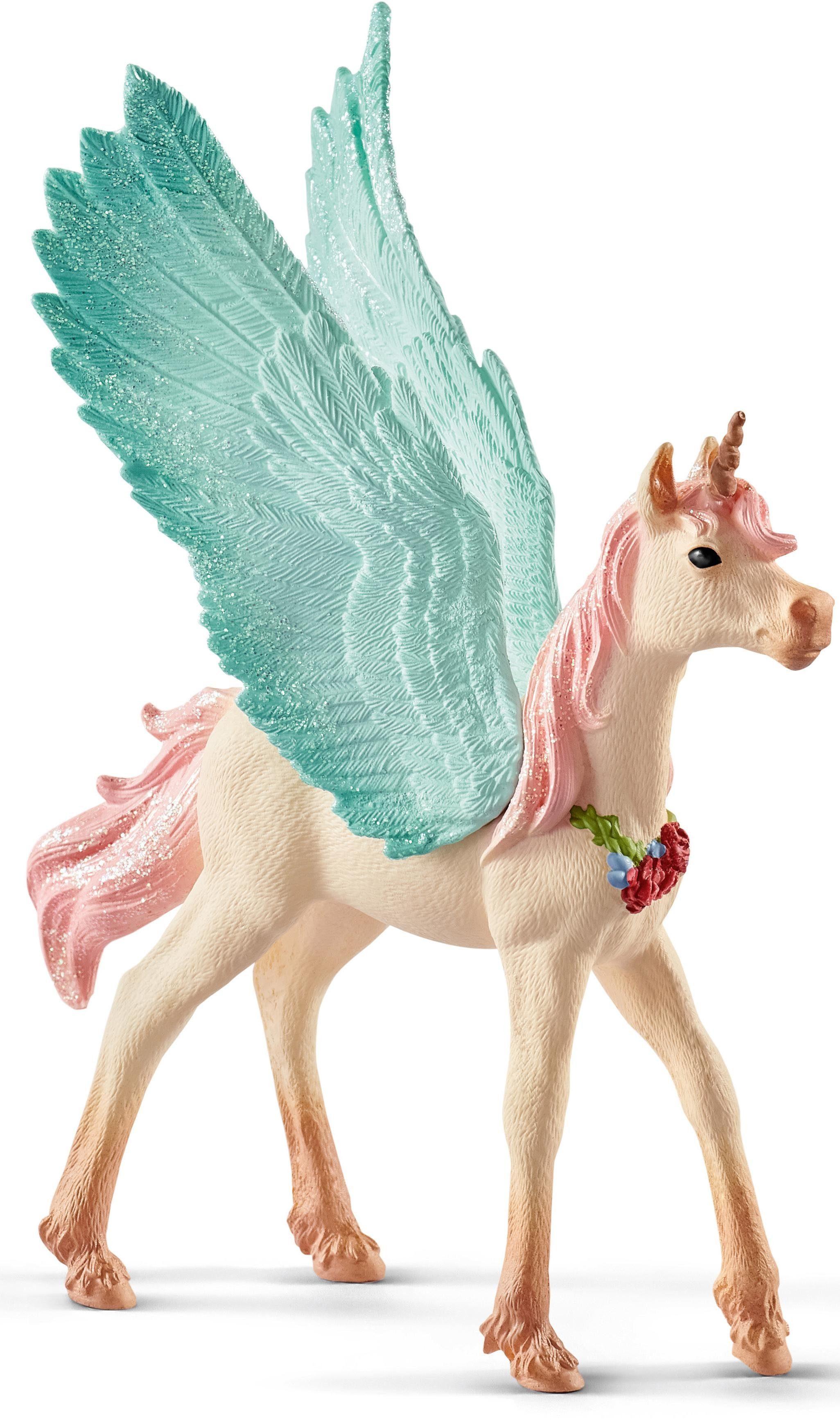 Schleich® Spielfigur (70575), »bayala, Schmuckeinhorn-Pegasus, Fohlen«