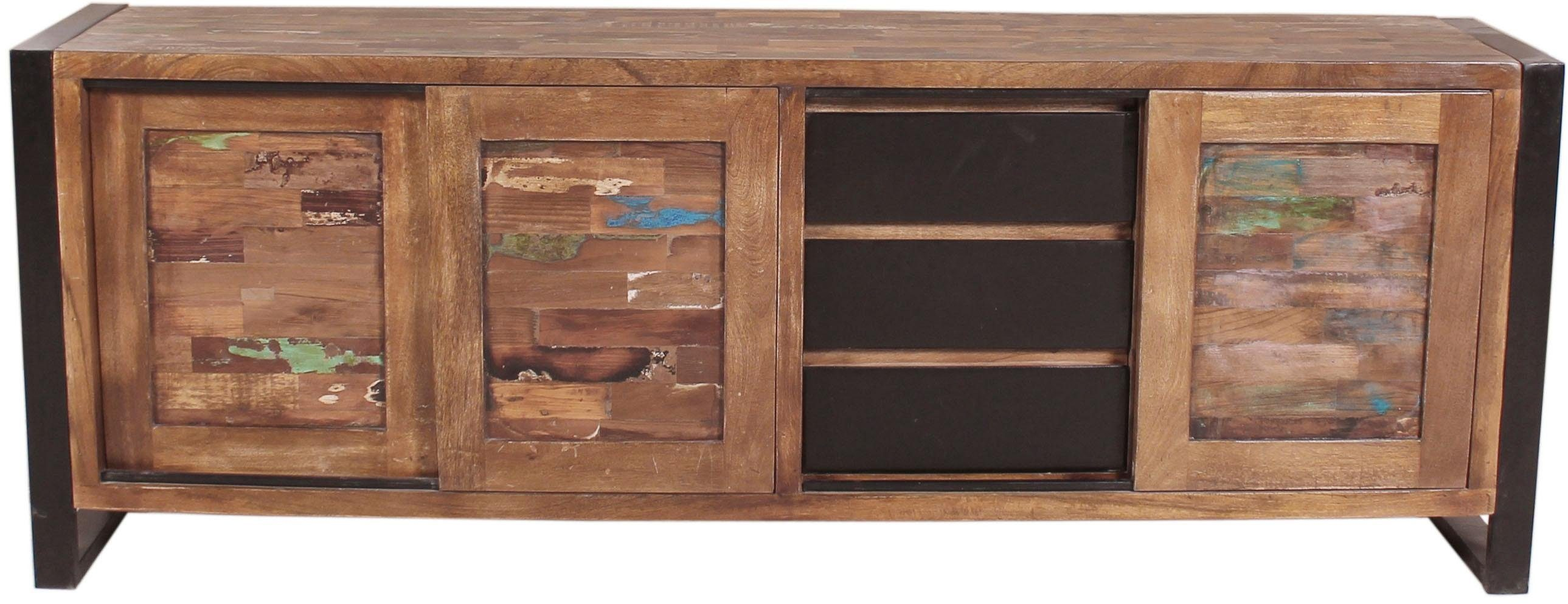 SIT Sideboard »Mox« M, farbiges Recyclingholz mit Eisen