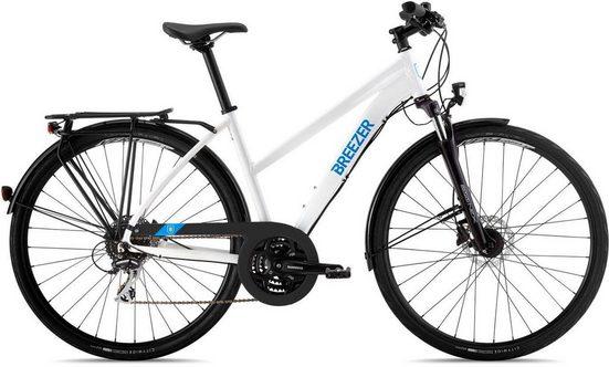 BREEZER Bikes Trekkingrad »Independence Disc Step-Through«, 24 Gang Shimano Acera Schaltwerk