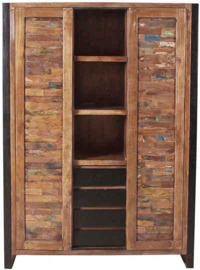 SIT Stauraumschrank »Mox« farbiges Recyclingholz mit Eisen