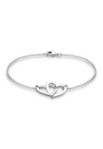 Elli Armband »Herzen Symbol Klassisch Liebe 925 Silber«