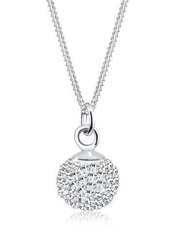 Elli Collierkettchen »Kugel Swarovski® Kristalle 925 Sterling Silber«