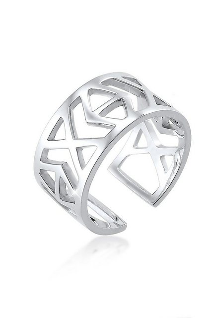 Elli Fingerring »Ikat-Muster 925 Sterling Silber« | Schmuck > Ringe > Fingerringe | Elli