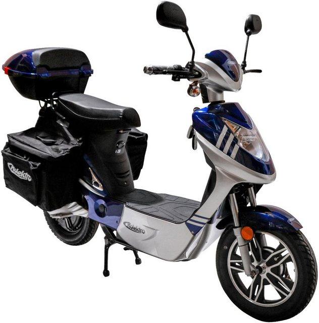 Rolektro E-Motorroller »eco-City 45 Plus V.2«, 500 W, 45 km/h, (Set, 2 tlg., mit Topcase)*