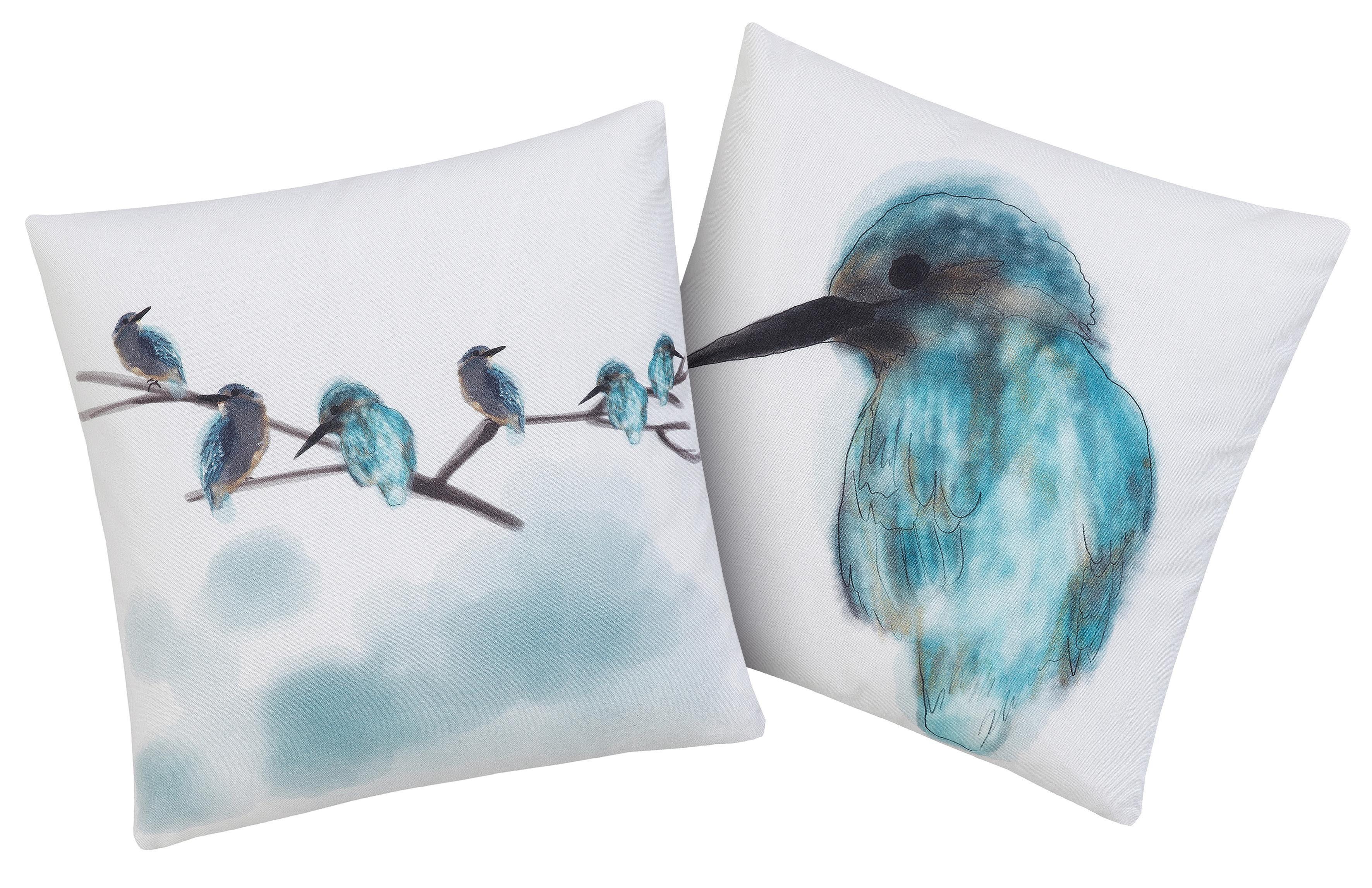 Kissenhülle »Eisvogel«, Guido Maria Kretschmer Home&Living, mit traumhaften Vogelmotiven (2 Stück)