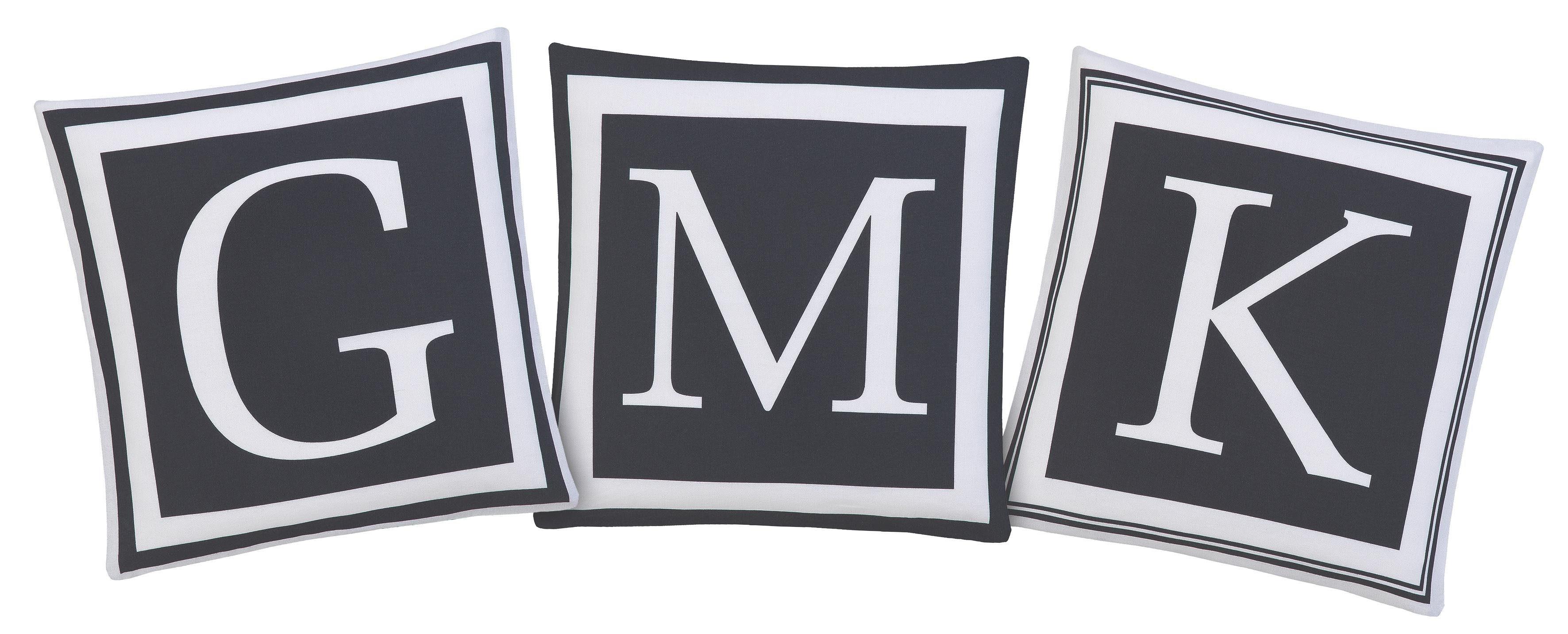 Kissenhülle »Cathy«, Guido Maria Kretschmer Home&Living, mit gedruckten Buchstaben (3 Stück)