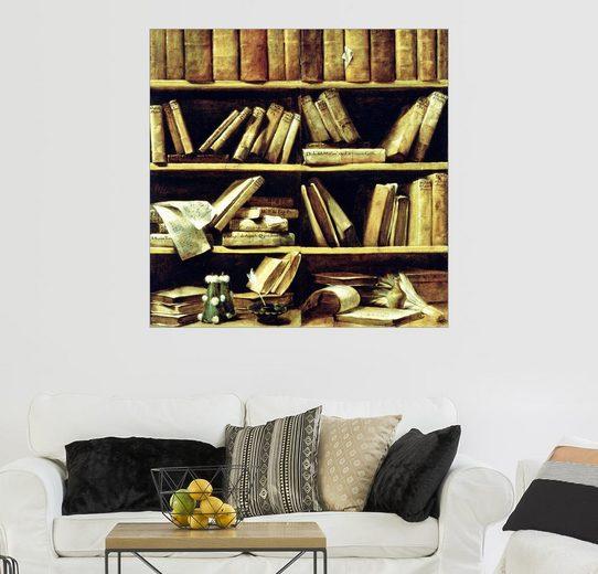 Posterlounge Wandbild - Giuseppe Maria Crespi »Trompe l'oeil, ein Bücherregal«
