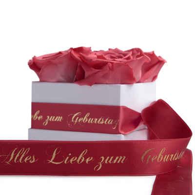 ROSEMARIE SCHULZ Heidelberg Dekoobjekt »Rosenbox Blumenbox Alles Liebe zum Geburtstag Geschenk für Damen Freundin Kunspflanze«, Haltbar bis zu 3 Jahre