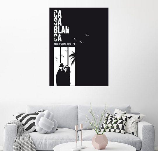 Posterlounge Wandbild - Golden Planet Prints »Casablanca classic movie inspired bw art«